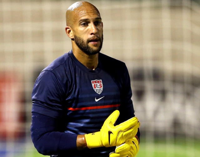 Tim Howard tried to drag the US into the final 8, but ultimately came up just short